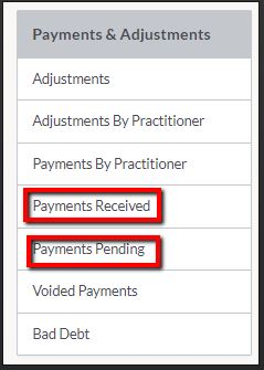 juvonno_reports_payments_received_payment_pending_options.JPG